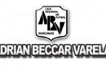Fútbol: Liga Adrián Beccar Varela.06-09.-