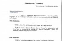 Comunicado de prensa de la UEPC