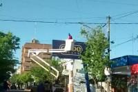 Las primeras tres cuadras con luminarias con led en calle Alem