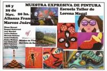 Presentación de trabajos de la escuela de pintura de Lorena Maggi