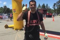 Olimpiadas bomberiles: Pablo Seguetta campeón provincial en categoría individual