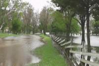 El Solar del Club San Martín totalmente inundado
