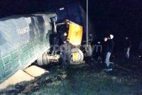 Choque entre dos camiones en la autopista a la altura de Cañada de Gómez