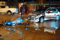 Morrison: En un choque entre moto y auto, una joven de 18 años sufrió heridas graves y se encuentra internada en Bell Ville