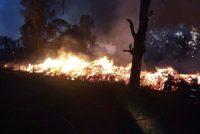 Incendio de ramas detrás del CAM: 20 Bomberos trabajaron durante cuatro horas y se arrojaron 70 mil litros de agua