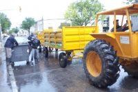 Los encargados de áreas salieron a las calles para realizar la recolección de residuos en la Ciudad