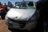 Despiste y vuelco de un vehículo con una persona fallecida en el km. 412 de autopista