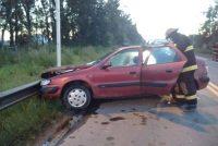 Un auto despistó e impactó contra guardarrail en ruta 9