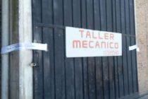 Clausura del taller mecánico donde el fin de semana se realizó una fiesta privada