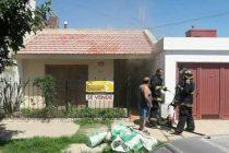 Incendio de una vivienda de calle Lavalle al 300