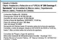 Llamado a licitación para obras en el IPEA 209 y el IPET 51