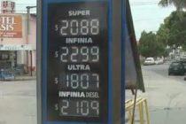 Aumento de un 8% en los combustibles
