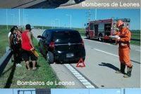 Accidente múltiple en la autopista en Leones