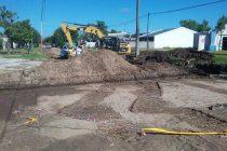 Avanzan las obras en canal de desagüe de calle Zeballos y General Paz