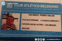 "Córdoba: un hincha de Belgrano le puso a su hijo ""Dale B"""