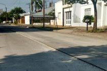 Desnivel en calle Jujuy luego de la reparación de un tramo de la calzada