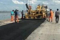 Inicio de asfaltado de ruta 12 a la altura de  Alejo Ledesma