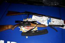 Villa Maria: detención de un hombre que se escondió en un monte y efectuaba disparos con una carabina