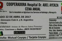 Cena anual de la Cooperadora del Hospital Abel Ayerza