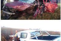 Choque frontal entre dos vehículos en ruta 9 con una persona fallecida