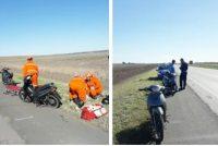 Accidente en autopista en Leones, donde una joven cayó de una motocicleta