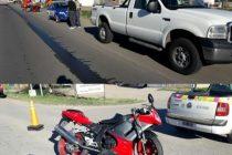 Leones: Choque entre una moto  y una pick up que involucra a gente de Marcos Juárez