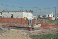 200 viviendas: Se comenzaron a levantar las paredes