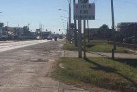 Dudas con cartel de giro permanente de ruta 9 y Azcuénaga