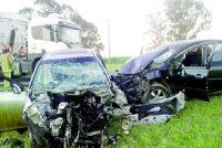 Los Cisnes: Múltiple choque en ruta 8 con cinco vehículos involucrados y una persona fallecida