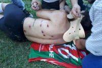 Represión policial en el partido entre Defensores de Armstrong y Sportivo de Las Parejas