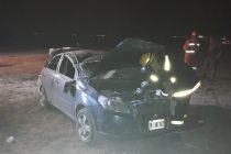 Despiste de un automóvil en autopista a la altura de Leones