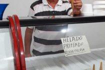 """Furor en Bell Ville por el invento de un helado """"pritiado"""""""