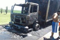 Incendio de un camión en autopista en General Roca