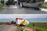 Accidente en ruta 3 norte entre Cintra y Bell Ville con un tractorista oriundo de Marcos Juàrez