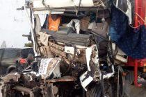 Anoche, Choque entre Tres Camiones – Hubo un lesionado grave de Leones
