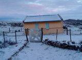 Nevó en las Altas Cumbres: cierran el camino por hielo en la calzada