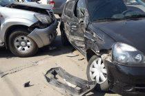 Último momento.- Choque de vehículos en Bismark y Sáenz Peña