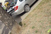 Choque entre dos vehículos en la intersección de calles Alem y Avellaneda