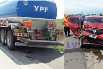 Accidente por alcance en autopista a la altura de San Marcos Sud