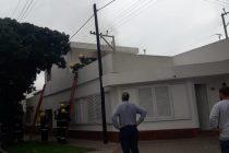 Principio de incendio en una vivienda de calle Santiago del Estero y Sáenz Peña