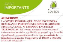 Aclaración de Coyspu sobre llamadas telefónicas dudosas