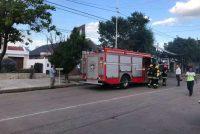 Incendio de un cañaveral ubicado en el patio de una vivienda de calle Santa Fe