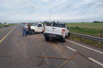 Leones: Choque entre dos camionetas e la intersección de rutas 9 y E 59