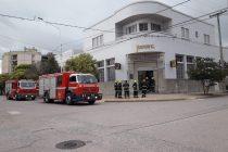 Principio de incendio en el Banco Córdoba de Marcos Juàrez