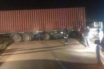 Despiste en solitario de un camión de Leones en autopista
