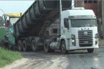 Obra de asfalto para el loteo de la Cooperativa General Paz
