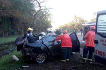 Un automóvil con un joven de Tortugas colisionó contra una planta en ruta 9