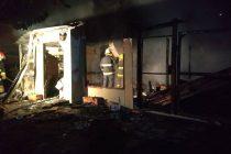 Incendio de una vivienda en Corral de Bustos