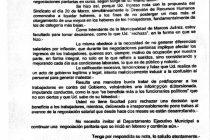 Respuesta del intendente al SUOEM