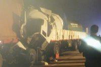 Cañada de Gómez, choque entre camiones en autopista que involucra a una persona de Marcos Juàrez